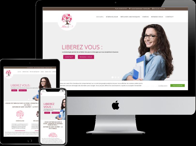 Portfolio webdesign bien être site